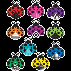 TCR5414 Colorful Ladybugs Accents Image
