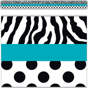 TCR5504 Zebra and Dots Straight Border Trim Image