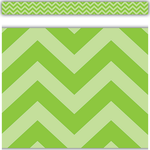 TCR5507 Lime Chevron Straight Border Trim Image