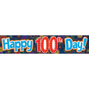 TCR5516 Fireworks Happy 100th Day Banner Image