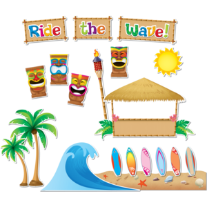 TCR5517 Surfs Up Board Bulletin Display Set Image