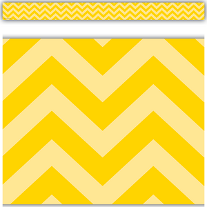 TCR5521 Yellow Chevron Straight Border Trim Image