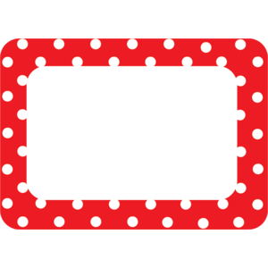 TCR5539 Red Polka Dots 2 Name Tags/Labels Image