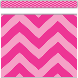 TCR5541 Hot Pink Chevron Straight Border Trim Image
