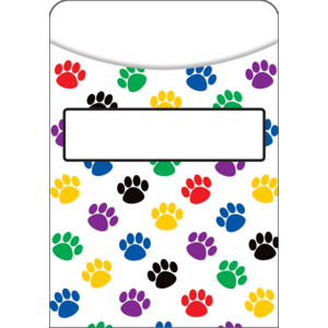TCR5550 Paw Prints Library Pockets Image