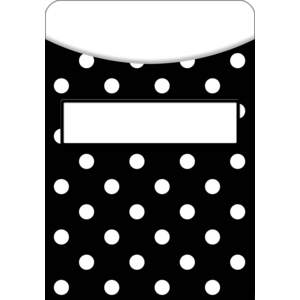 TCR5552 Black Polka Dots Library Pockets Image