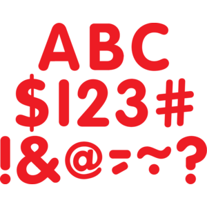 """TCR5562 Red Classic 2"""" Letters Uppercase Pack Image"""