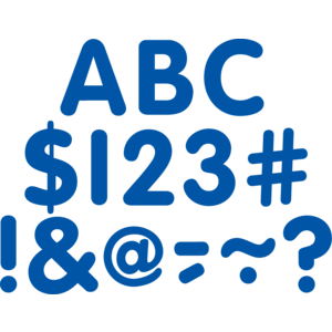 """TCR5563 Blue Classic 2"""" Letters Uppercase Pack Image"""