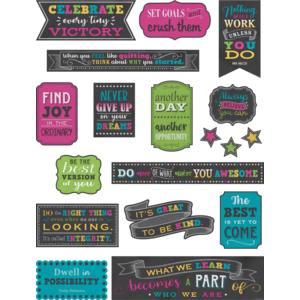 TCR5575 Chalkboard Brights Positive Sayings Mini Bulletin Board Image