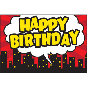 TCR5605 Superhero Happy Birthday Postcards Image