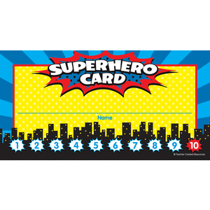 TCR5607 Superhero Punch Cards Image