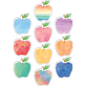 TCR5611 Watercolor Apples Accents Image
