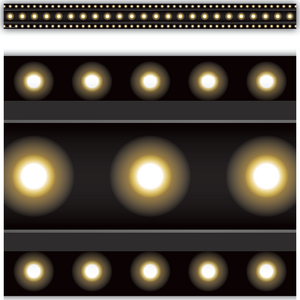 TCR5613 Black Marquee Straight Border Trim Image