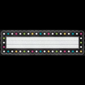 TCR5624 Chalkboard Brights Flat Name Plates Image