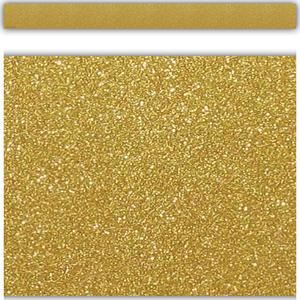 TCR5627 Gold Shimmer Straight Border Trim Image