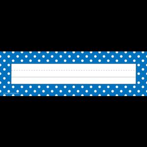 TCR5633 Blue Polka Dots Flat Name Plates Image