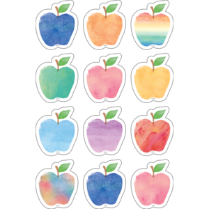 TCR5635 Watercolor Apples Mini Accents Image