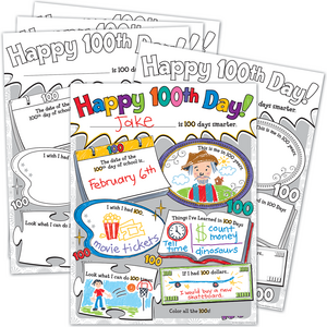TCR5640 Happy 100th Day Poster Pack Image