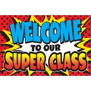 TCR5652 Superhero Welcome Postcards Image