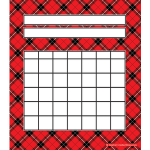 TCR5696 Red Plaid Incentive Charts Image