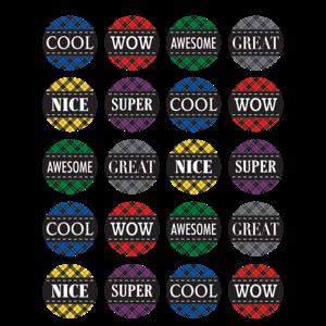 TCR5697 Plaid Stickers Image
