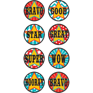 TCR5719 Carnival Mini Stickers Image