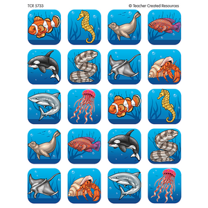 TCR5733 Ocean Life Stickers Image