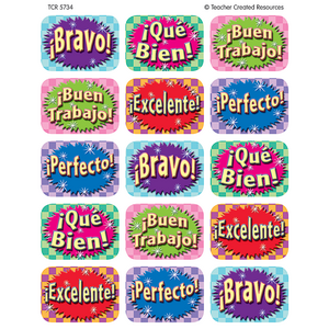 TCR5734 Good Work (Spanish) Jumbo Stickers Image