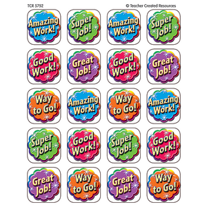 TCR5752 Good Work Stickers Image