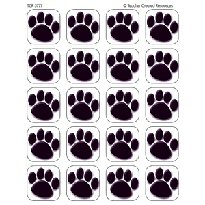 TCR5777 Black Paw Prints Stickers Image