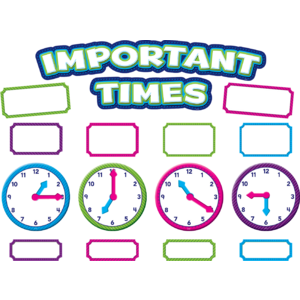 TCR5785 Important Times Mini Bulletin Board Image