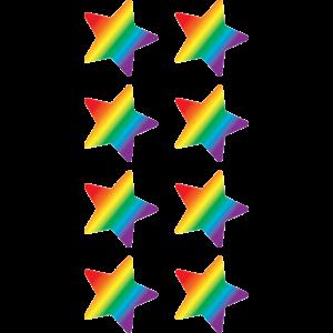 TCR5798 Rainbow Stars Mini Stickers Image