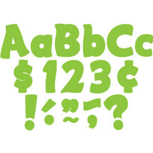 """TCR5820 Lime Funtastic 4"""" Letters Combo Pack Image"""
