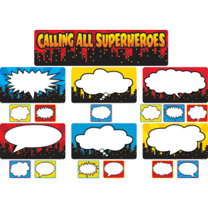TCR5825 Calling All Superheroes Mini Bulletin Board Image