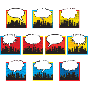 TCR5826 Superhero Cityscape Accents Image