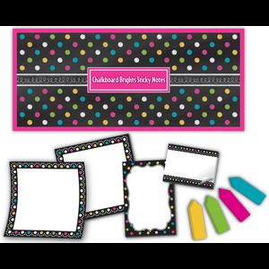 TCR5833 Chalkboard Brights Sticky Notes Image