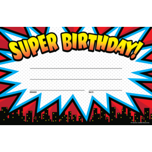 TCR5844 Superhero Super Birthday Awards Image