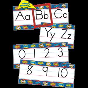 TCR5846 Superhero Alphabet Line Bulletin Board Display Set Image