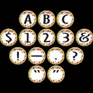 TCR5849 Confetti Circle Letters Image