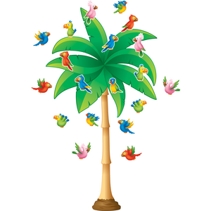 TCR5859 Tropical Trees Bulletin Board Display Set Image