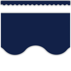 TCR5861 Navy Scalloped Border Trim Image