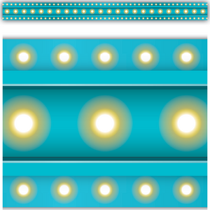 TCR5889 Light Blue Marquee Straight Border Trim Image