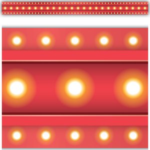 TCR5891 Red Marquee Straight Border Trim Image