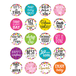 TCR5909 Confetti Words to Inspire Planner Stickers Image
