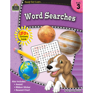 TCR5923 Ready-Set-Learn: Word Searches Grade 3 Image