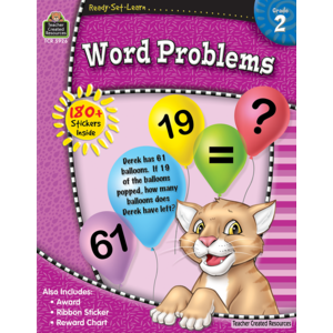 TCR5926 Ready-Set-Learn: Word Problems Grade 2 Image
