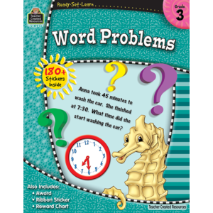 TCR5927 Ready-Set-Learn: Word Problems Grade 3 Image