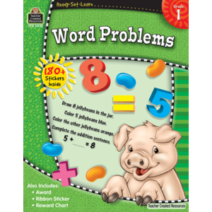 TCR5930 Ready-Set-Learn: Word Problems Grade 1 Image