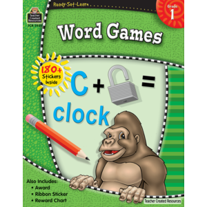 TCR5931 Ready-Set-Learn: Word Games Grade 1 Image