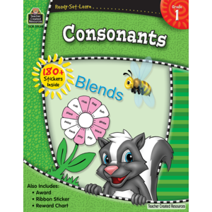 TCR5934 Ready-Set-Learn: Consonants Grade 1 Image